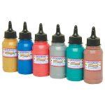 Colourcraft Metallic Fabric Paints (6 x 300ml Bottles)