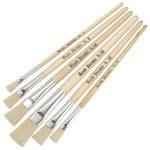 Major Brushes Hog Short Flat Assorted Pack 60 / 10 size 4, 6, 8, 1…
