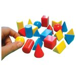 Ed Tech Small Solid Shapes – Pack of 96