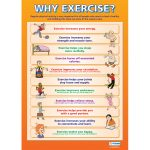 Why Exercise? Wall Chart Poster