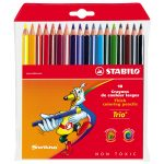 Stabilo Trio Thick Pencil Wallet – Pack of 18