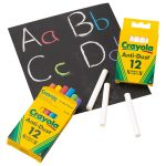 Crayola 12 Anti Dust Chalk Coloured