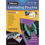 Fellowes 5309302 Laminating Pouches Glossy A2 125 micron (Pack of 50)
