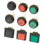 ITW 59-411R Black Round IP67 Mom Switch Red LED
