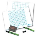 Show-me 100 Square Gridded Board – Pack of 35