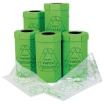 Recreate Paper Recycling Bin Pack of 5