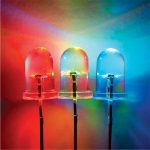 TruOpto OSTIMA313A 3mm Rainbow LED Colour Cycling Clear