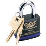 Draper Expert 64193 54mm Heavy Duty Stainless Steel Padlock and 2 Keys
