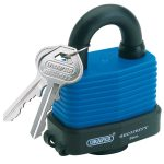 Draper 64178 54mm Weatherproof Laminated Steel Padlock and 2 Keys