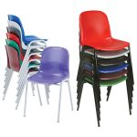 Proform Europe Harmony School Chairs 430mm High Red Seat Black Fra…