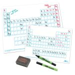 Show-Me A4 White Board Periodic Table Pack of 100 Boards, Pens and…