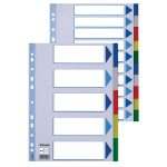Esselte 15259 Multicoloured Polypropylene Divider A4 5 Part 115 micro PP