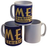 Mega Electronics 71-1010-L Blank 10oz Ceramic Durham Mugs – 36 pack