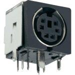 BKL 0204065 Mini-DIN Socket PCB Mount Metal Shielded Horizontal 4-…