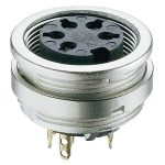 Lumberg KFV 81 8 Pin DIN Female Chassis Socket IEC 60130-9 Front P…