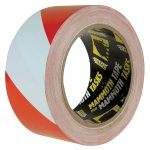 Everbuild 2HAZRD PVC Hazard Tape Red / White 50mm x 33m