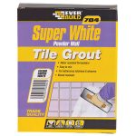 Everbuild GROUT1 704 Super White Powder Wall Tile Grout 1kg