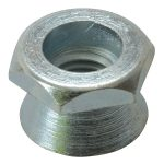 ForgeFix 10SHNT12 Shear Nut Zinc Plated M12 Bag 10