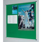 Metroplan Shield Deluxe Noticeboards 1200x2400mm Aluminium Frame
