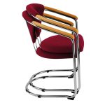 Metroplan Lena Cantilever Stacking Conference Chairs 830x540x555mm Red