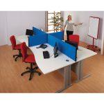 Metroplan Busyscreen Connect Straight Desk Screens 400x1800mm