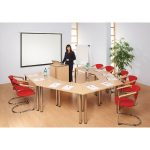 Metroplan Meeting Room Tables 700x1360x590mm Trapezoid