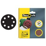 Flexovit 63642526392 Hook and Loop Sanding Discs 125mm Fine 120G – P…