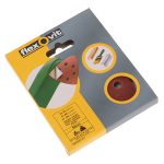 Flexovit 63642526400 Delta Hook and Loop Sanding Sheets 94mm Medium 80G