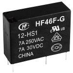 Hongfa HF46F-G/012-HS1 PCB Mount Relay 12V DC SPST