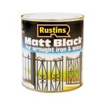 Rustins BLAM250 Matt Black Paint Quick Drying 250ml