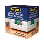 Rustins PCFS1000 Clear Plastic Floor Coating Kit Satin 1 Litre