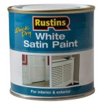 Rustins WHISW1000 White Satin Paint 1 Litre