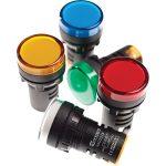 Europa Components RAD224P 22mm LED Pilot Light Red 230V AC IP65