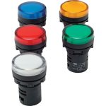 Europa Components RADT224P 22mm LED Pilot Light Test Red 230V AC