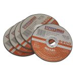 Sealey PTC/115CT5 Cutting Disc diameter 115 x 1.6mm 22mm Bore – Pack Of 5