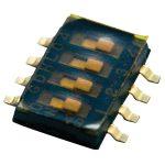 TE 1977103-7 GDHL DIP Switch Low Profile Gold 8P Black