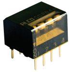 TE 1-1571998-3 GDP DIP Piano Switch Gold 8P Black