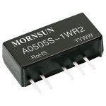 Mornsun A1515S-1WR2 1W Dual O/P SIP Unregulated Isolated DC Conver…