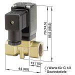 Busch Jost 8253200.8001.23050 2/2-way Solenoid Diaphragm Valve G1/…