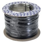Rapid GW010300 Equipment Wire Single Core 1/0.6 Black (Reel of 100m)