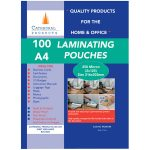 Cathedral Products A4250100 A4 Laminating Pouches 250 micron Pack 100