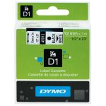 DYMO S0720530 D1 Tape 12mm x 7m Black on White.