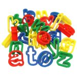 Major Brushes Plastic Dough Cutters Lower Case Alphabet Pack of 26