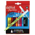 Berol Fabric Pens 12 Asst'd