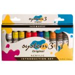 Daler Rowney System 3 Acrylic Paint Introduction Set (10 x 22ml Tubes)