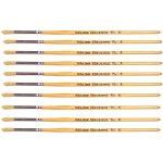 Major Brushes Hog Bristle Short Hand Round Tip Size 4 – Pack of 10