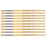 Major Brushes Hog Bristle Short Hand Round Tip Size 8 – Pack of 10