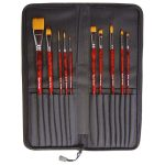 Major Brushes Acrylic Brush, Artist's Choice Superior (Set of 10)