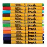 Berol Colour Brush Pens (Pack of 12)