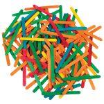 Artstraws Lollipop Sticks, Assorted Colours 115 x 11mm Pack of 1000